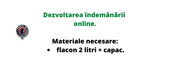 Îndemânare online: flacon + capac.