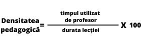 Densitatea lectiei de educatie fizica