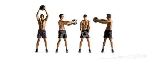 Exercitii cu mingea medicinala – 25 exerciții